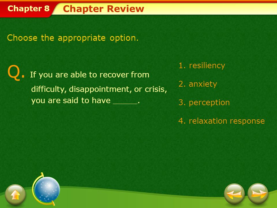 Chapter 8 Chapter Review Q.
