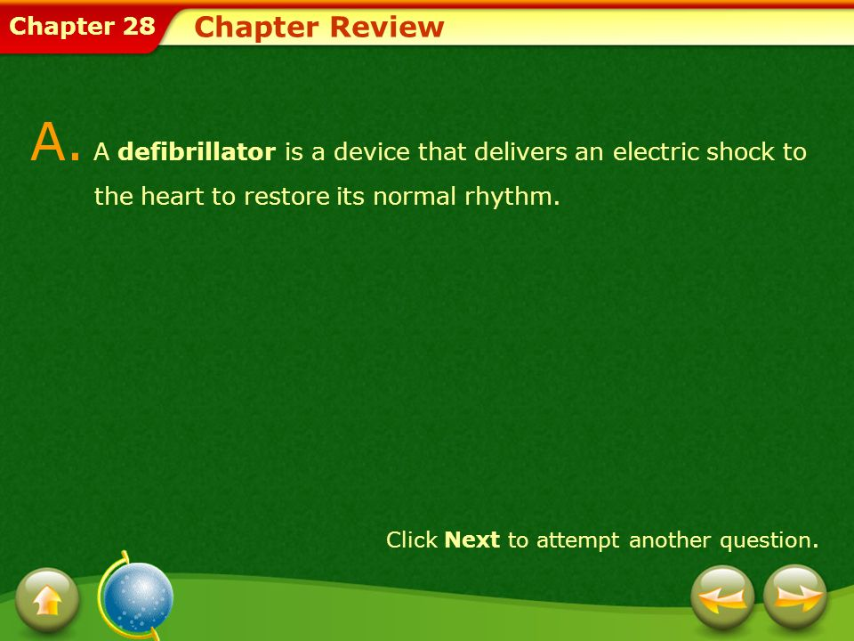 Chapter 28 Chapter Review Provide a short answer to the question given below.