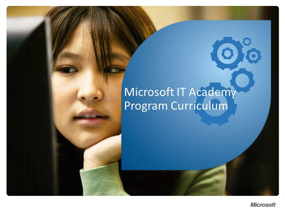 Microsoft IT Academy Program Curriculum