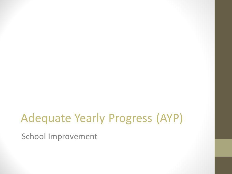 Adequate Yearly Progress (AYP) School Improvement
