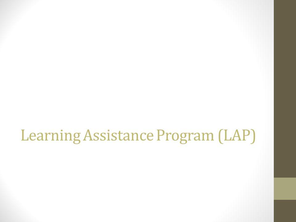 Learning Assistance Program (LAP)