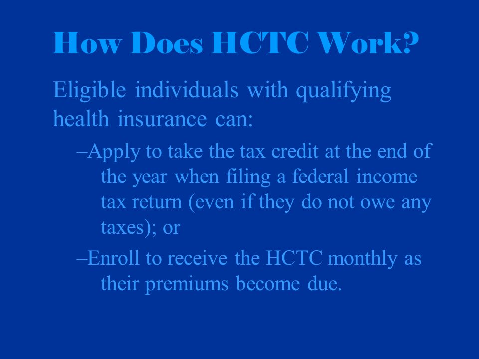 How Does HCTC Work.