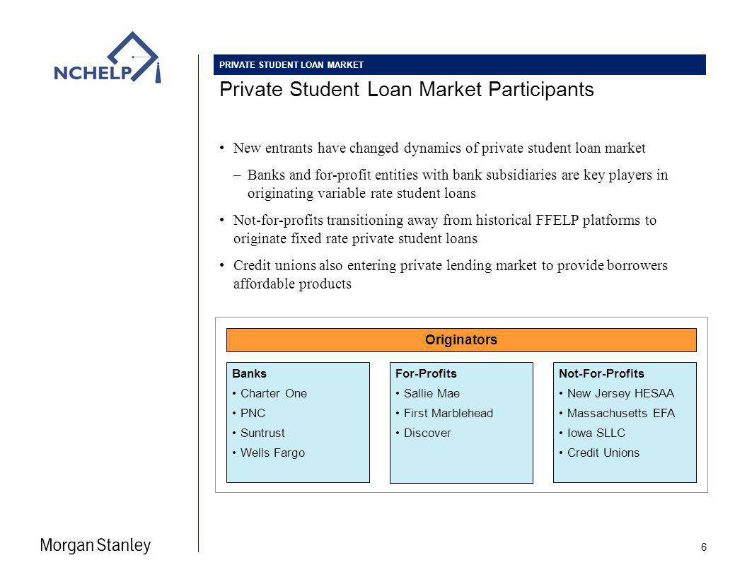 Consolidation of Student Loan Market Participants 7 Activity includes: –Whole Loan Portfolio Sales –Monetization of Servicing / Admin Fee Streams –Residual Interest Sales –Outsourcing of Servicing Fundamental industry shift due to margin erosion & legislation Consolidation and in some cases exit / suspension of private student lending –Chase and US Bank announced exits from private student lending –Chase to offer student loans only to existing clients –US Bank is exiting product entirely PRIVATE STUDENT LOAN MARKET