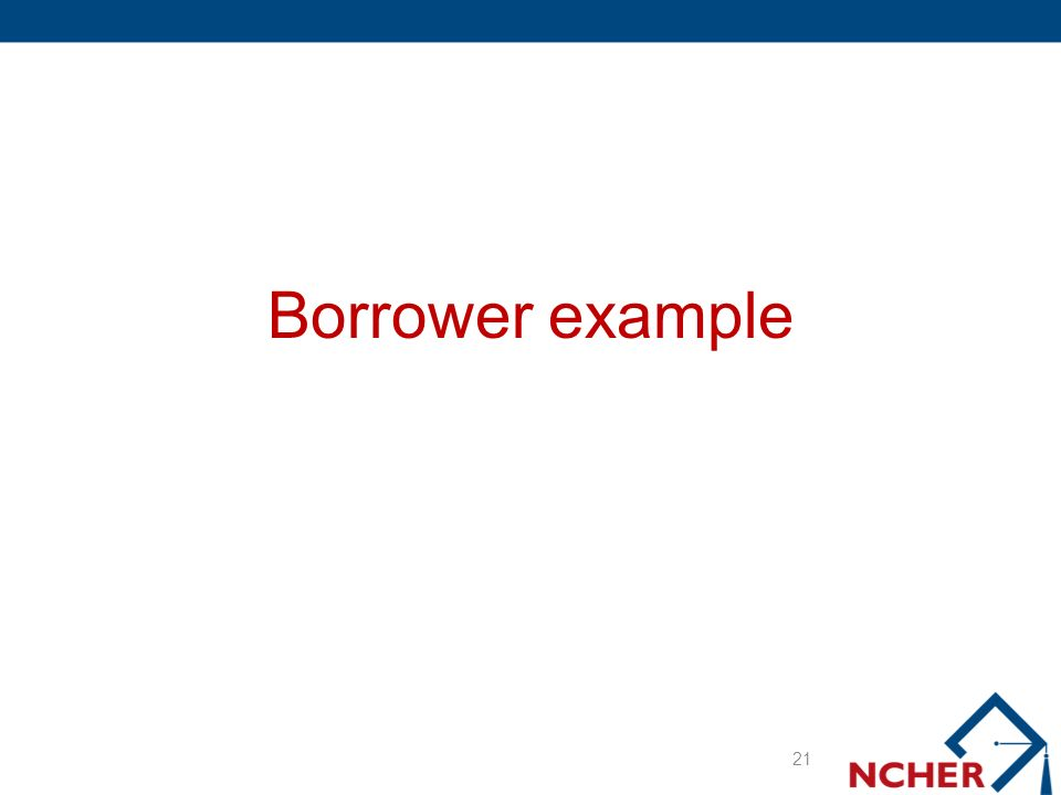 Borrower example 21