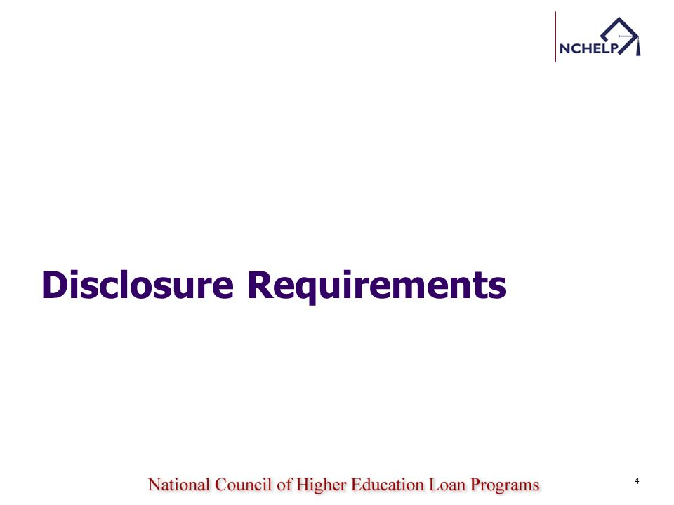 Disclosure Requirements 4