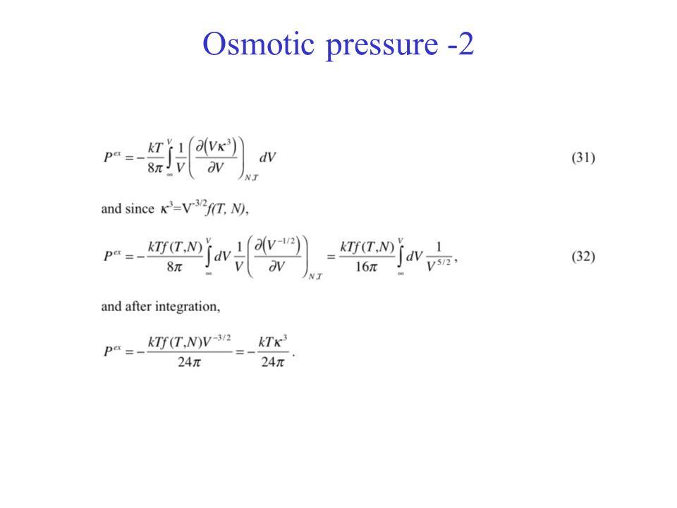 Osmotic pressure -2