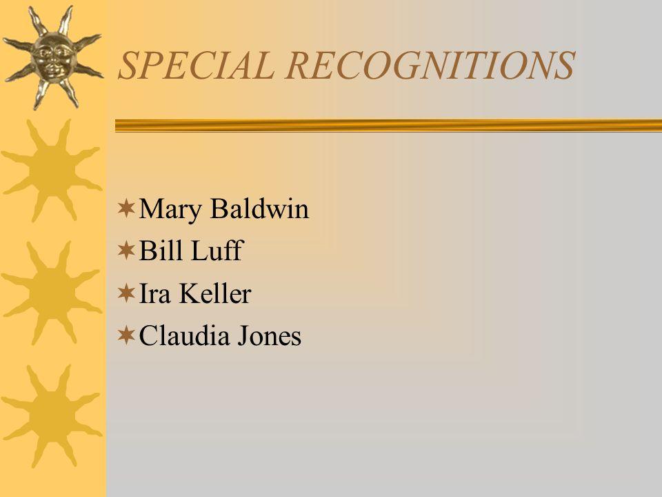 Mary Baldwin Bill Luff Ira Keller Claudia Jones