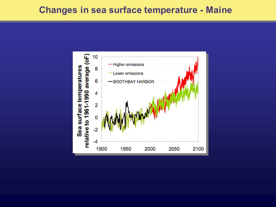 Changes in sea surface temperature - Maine