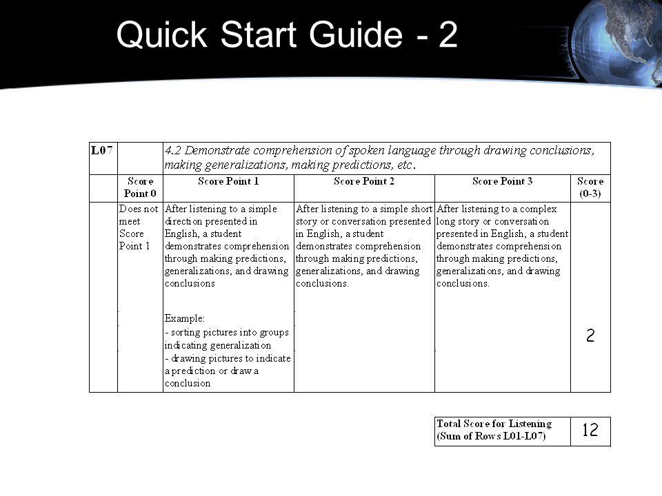 Quick Start Guide - 2