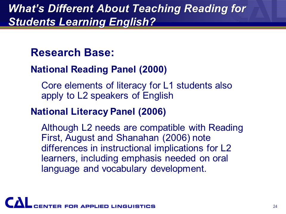 23 Whats Different About Teaching Reading for Students Learning English?