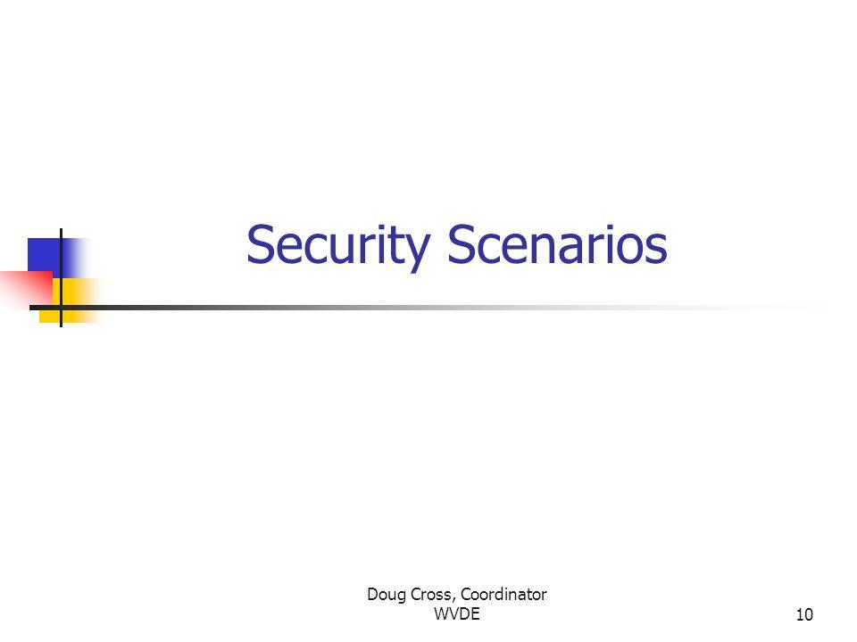 Doug Cross, Coordinator WVDE10 Security Scenarios