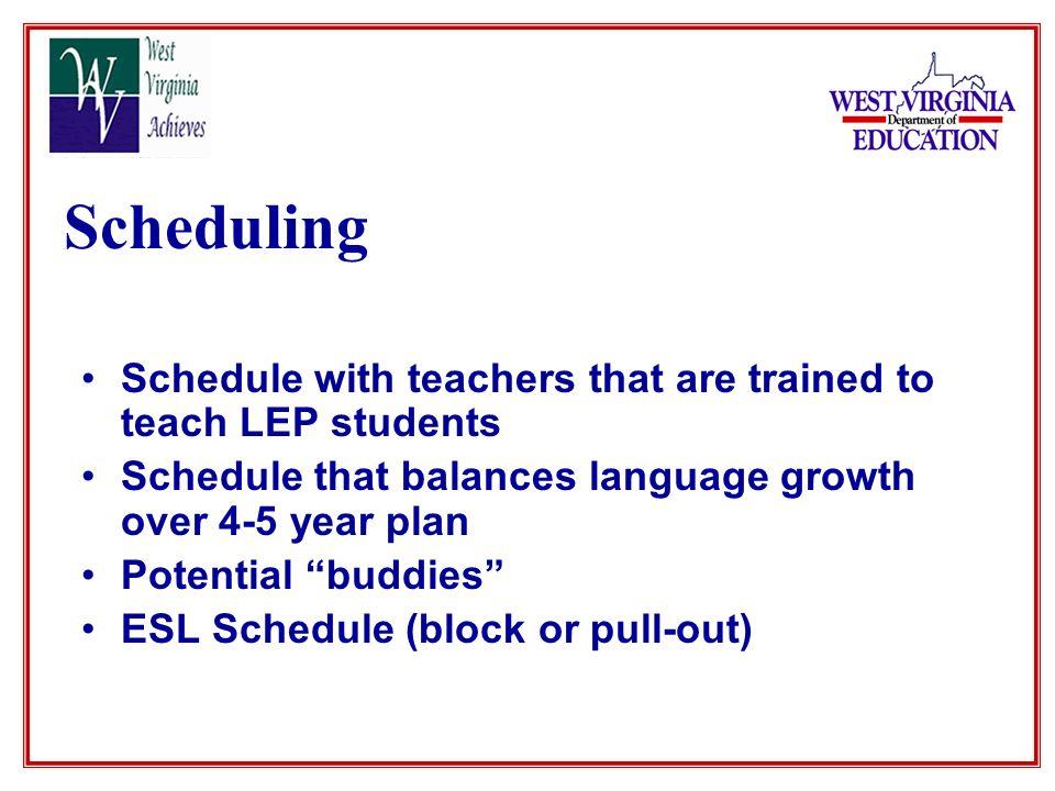 Staff Development ESL Program Benefits of Acceleration / Collaboration with ESL Teacher Consistent and Pervasive