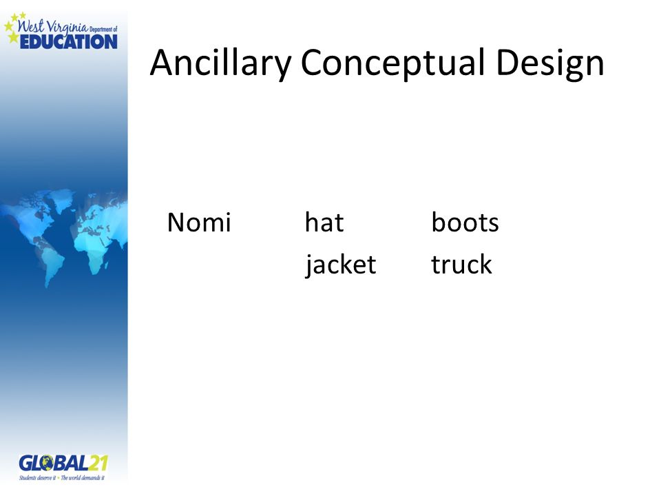 Ancillary Conceptual Design Nomi hatboots jackettruck