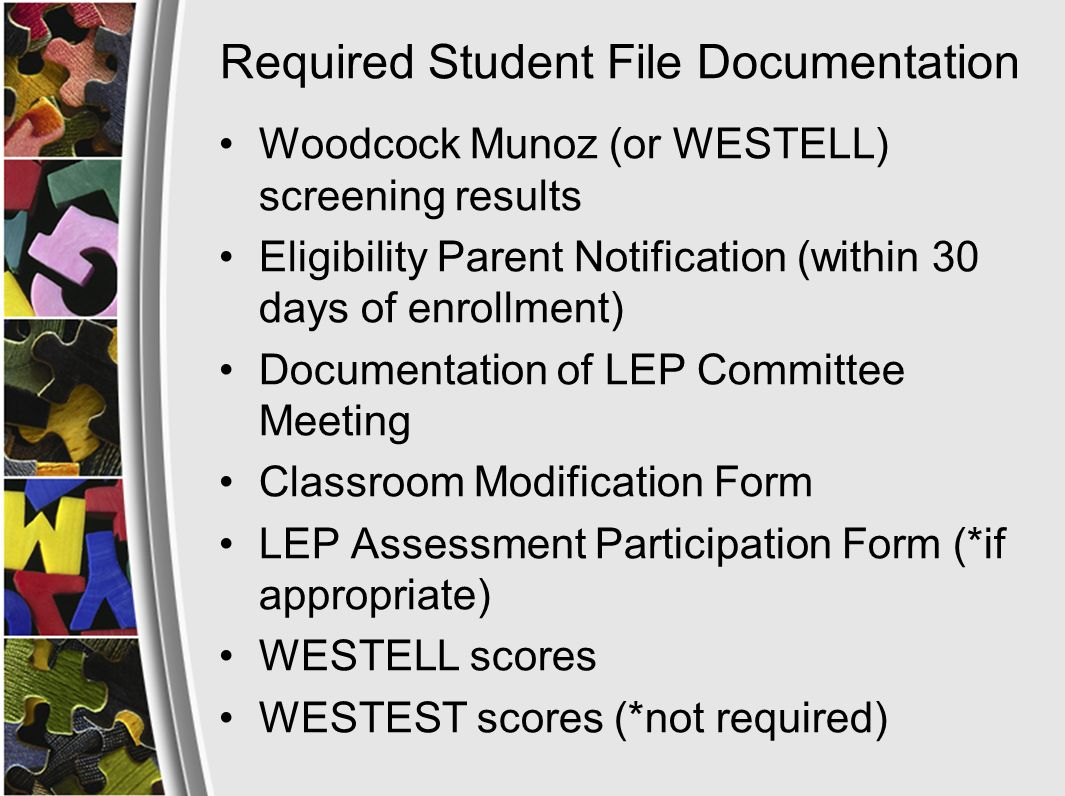 Goals/Objectives/Actions Add Title III Goal –Example: Increase the number or percentage of LEP students making progress in learning English Add Objectives –Example: Students will increase in making progress in English as measured by WESTELL (AMAO I).