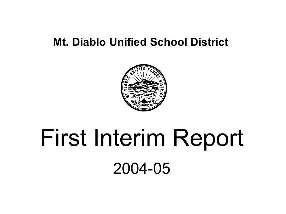 Mt. Diablo Unified School District First Interim Report 2004-05