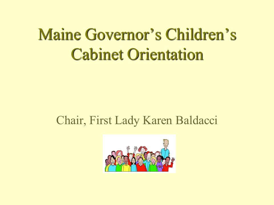 Maine Governors Childrens Cabinet Orientation Chair, First Lady Karen Baldacci