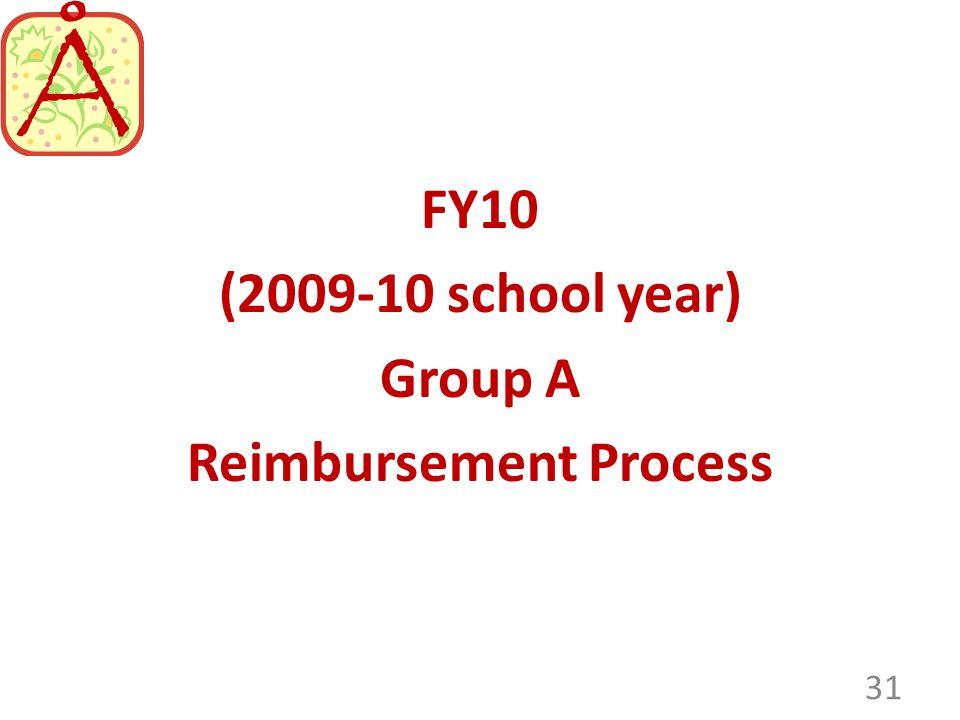 (2009-10 school year) Group A Reimbursement Process 31