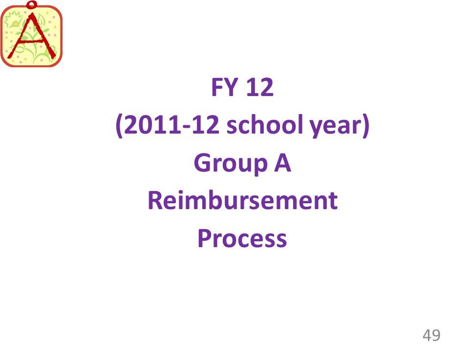 (2011-12 school year) Group A Reimbursement Process 49