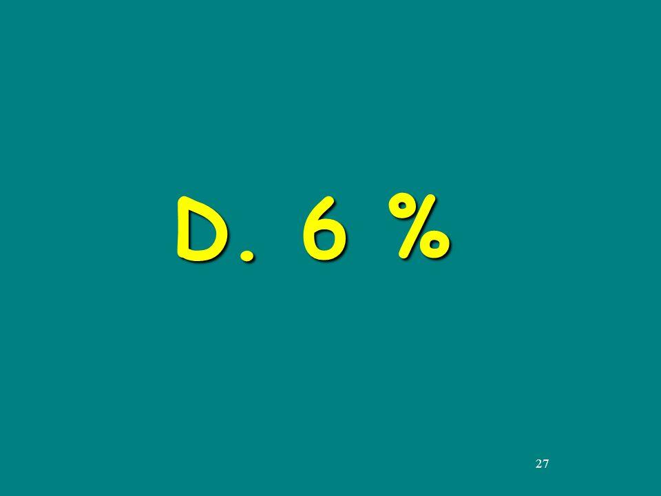 27 D. 6 %