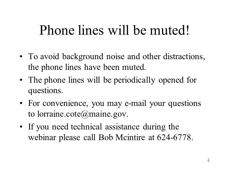 2 Phone lines will be muted.