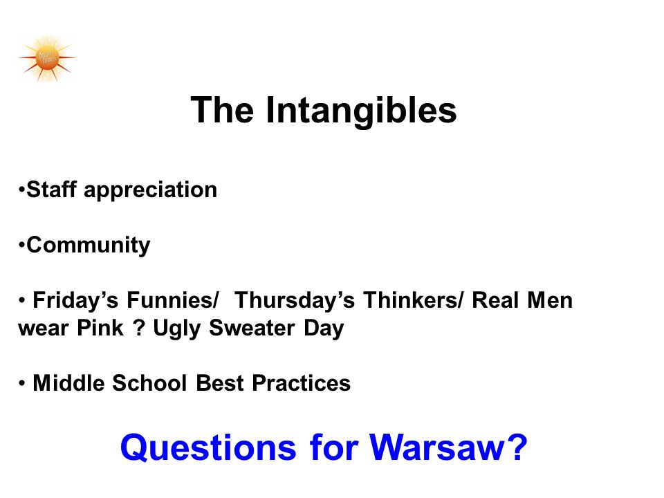 The Intangibles Staff appreciation Community Fridays Funnies/ Thursdays Thinkers/ Real Men wear Pink .