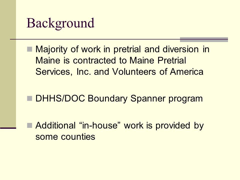 Maine Pretrial Services, Inc.- Outcomes 20072008 Pretrial Services Avg.