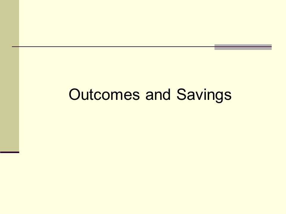 Outcomes and Savings