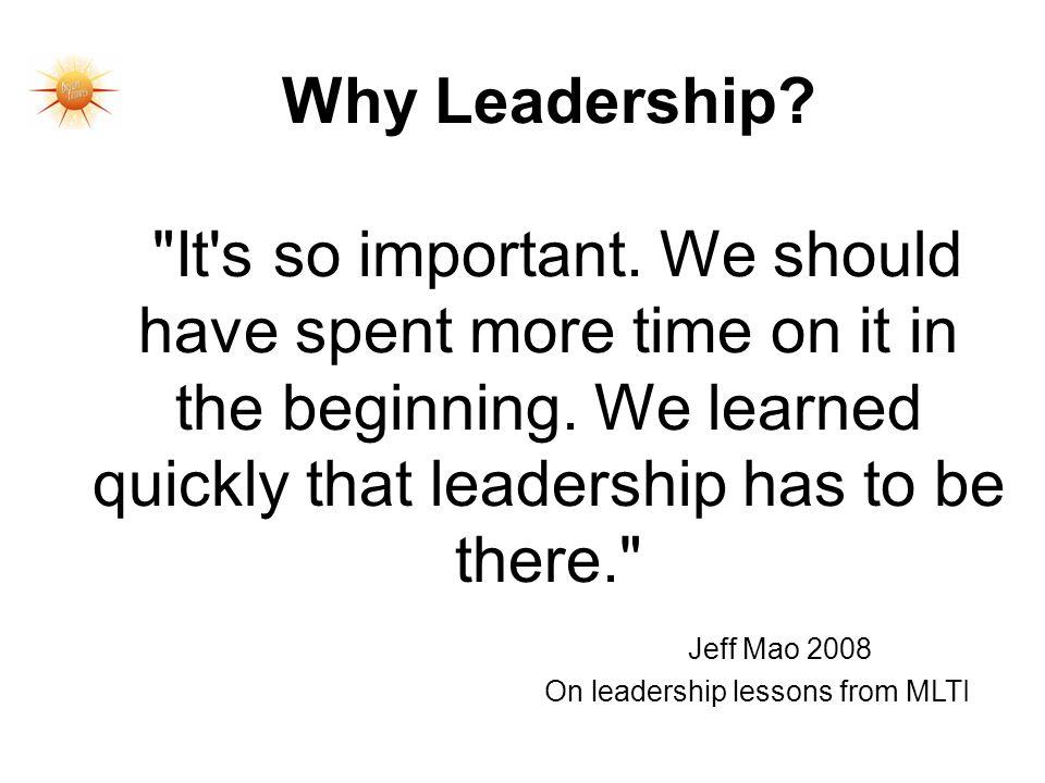 Why Leadership?