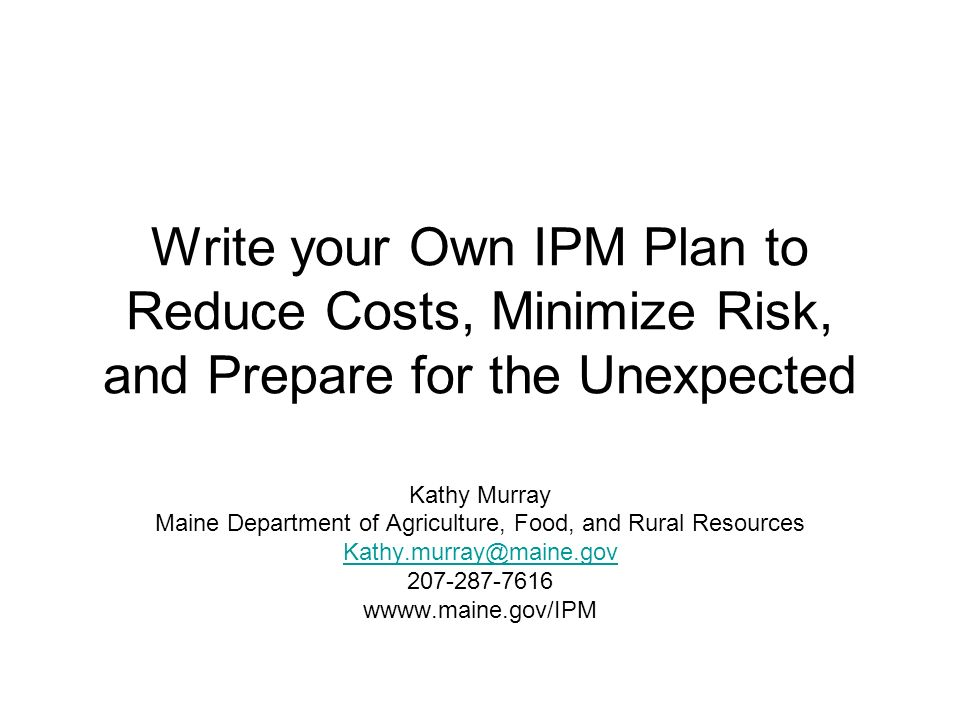 What is IPM and Why do I Need to Plan it.