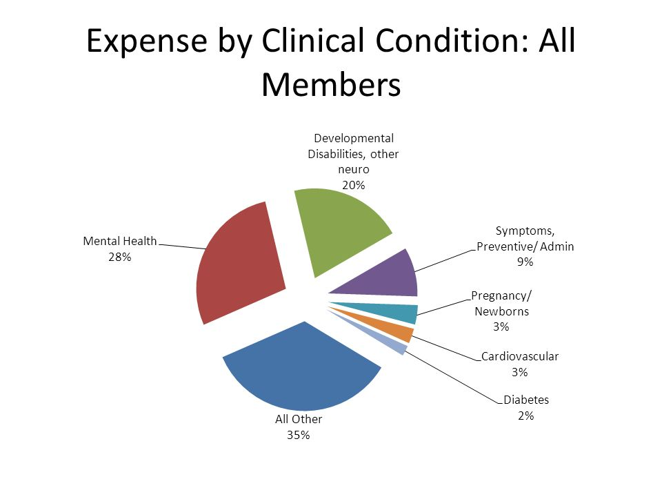 Expense by Clinical Condition: All Members