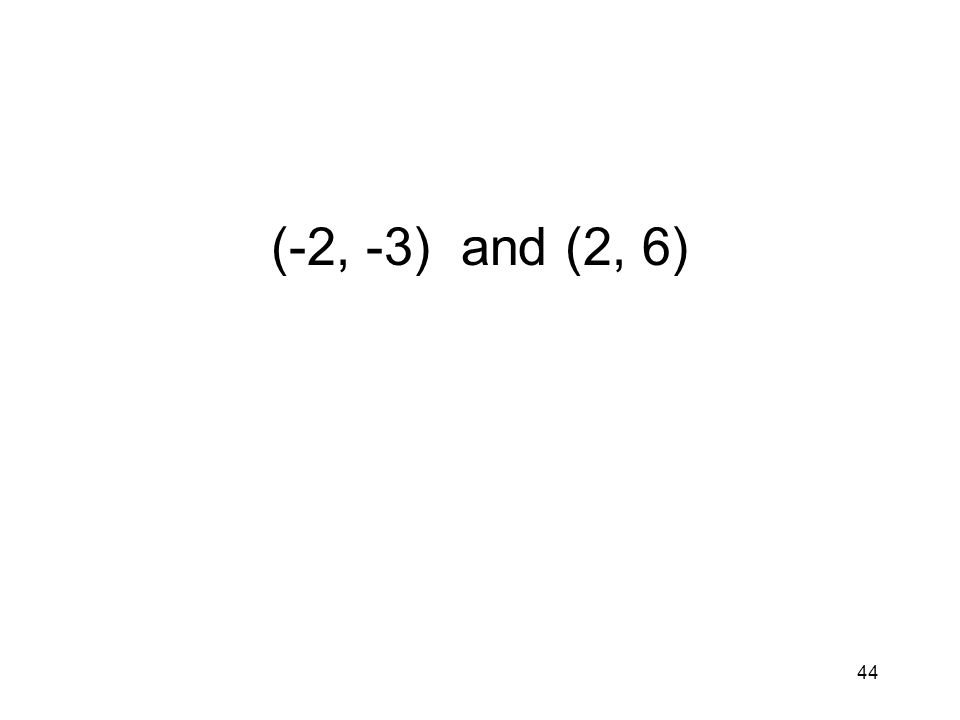44 (-2, -3) and (2, 6)