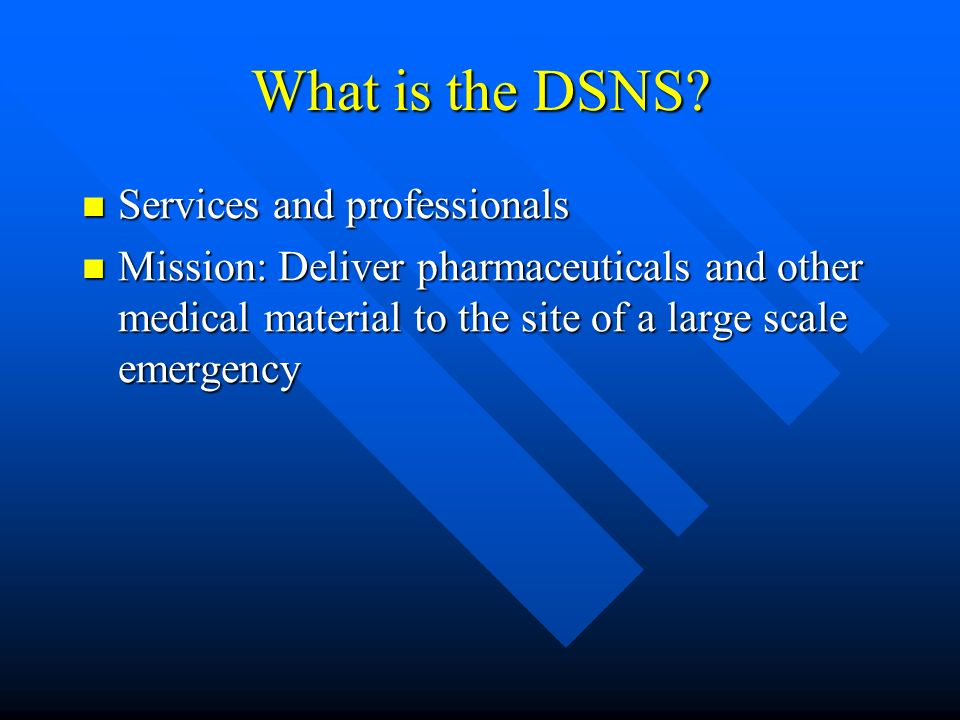 What is the DSNS.