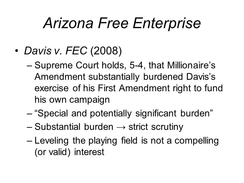 Arizona Free Enterprise Davis v.