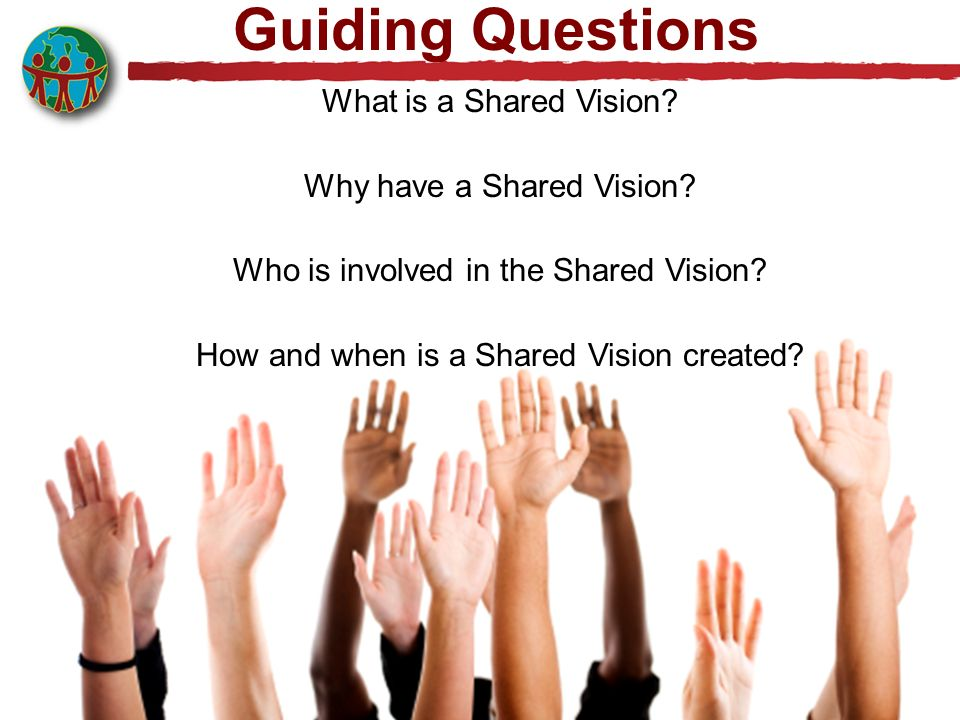 Guiding Questions What is a Shared Vision.Why have a Shared Vision.