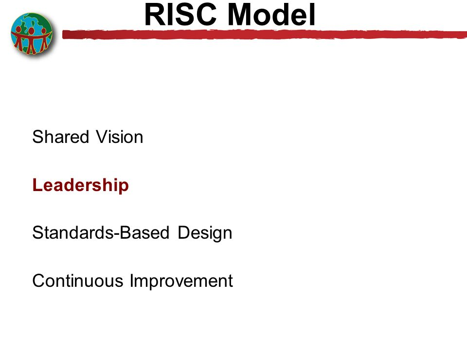 RISC Model Shared Vision Leadership Standards-Based Design Continuous Improvement