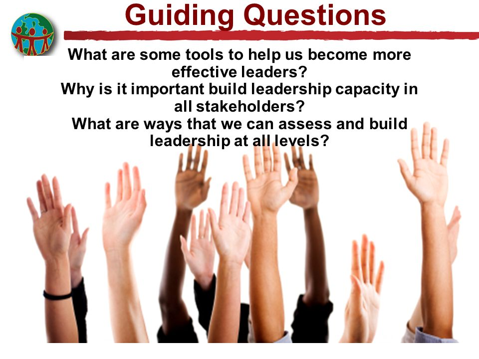 Guiding Questions What are some tools to help us become more effective leaders.