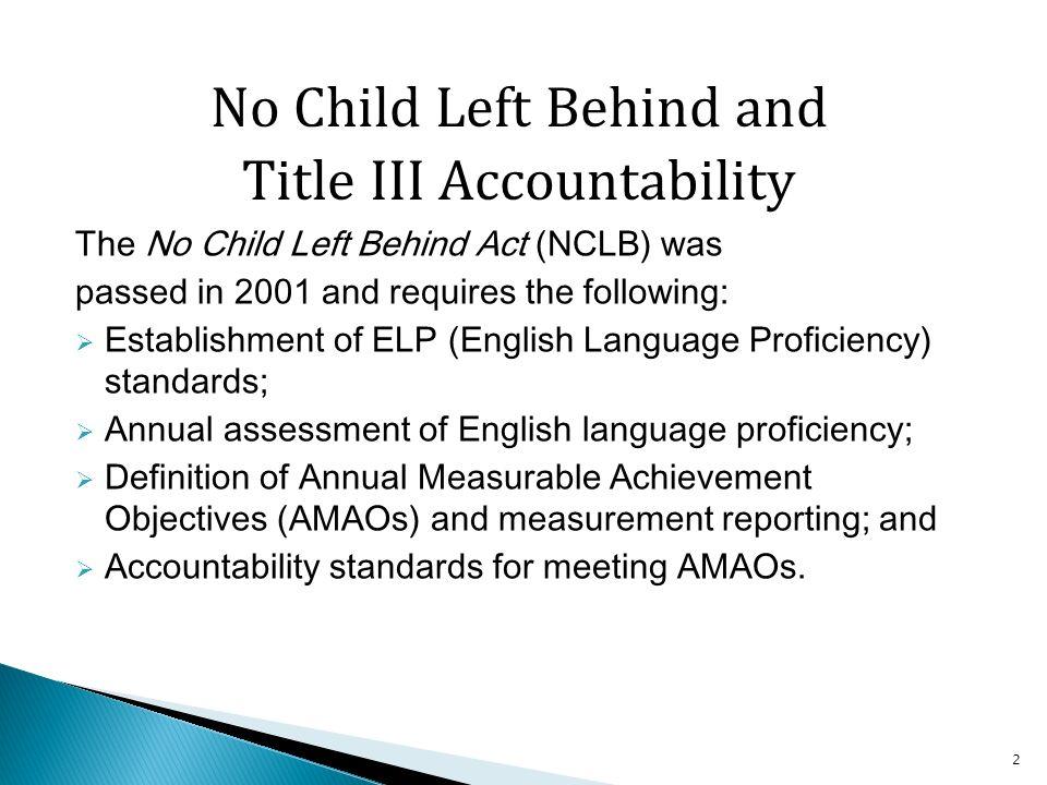 3 Basic Title III Framework Maine Title III Accountability System StateConsortiaDistricts Title III Performance Indicators AMAO I Making Progress AMAO II Attaining Proficiency AMAO III AYP Determination