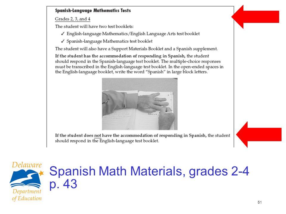 51 Spanish Math Materials, grades 2-4 p. 43