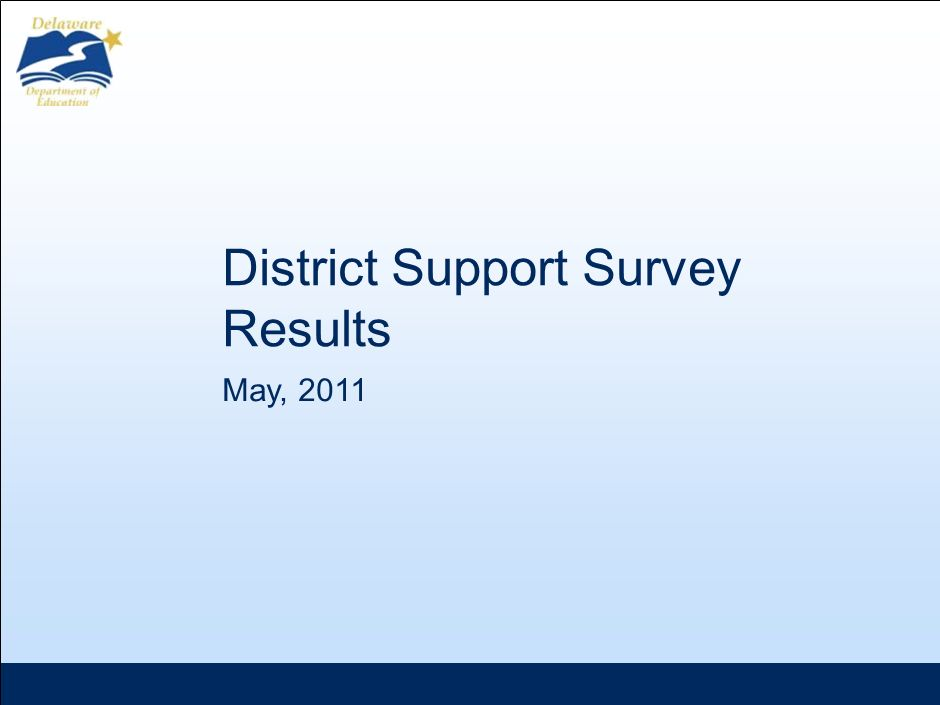 May, 2011 District Support Survey Results