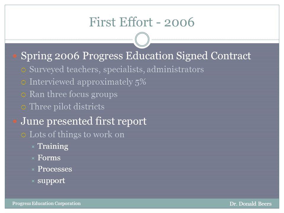 Second Effort 2006 - 2007 Dr.