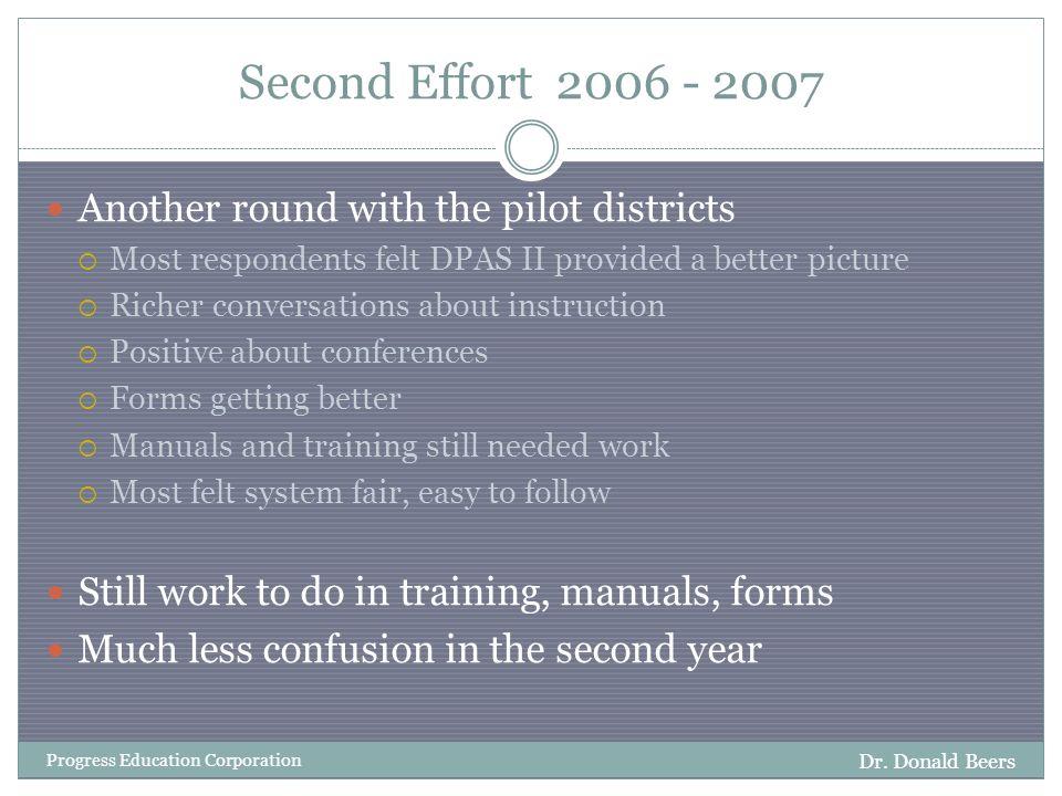 Second Effort 2006 - 2007 Dr.