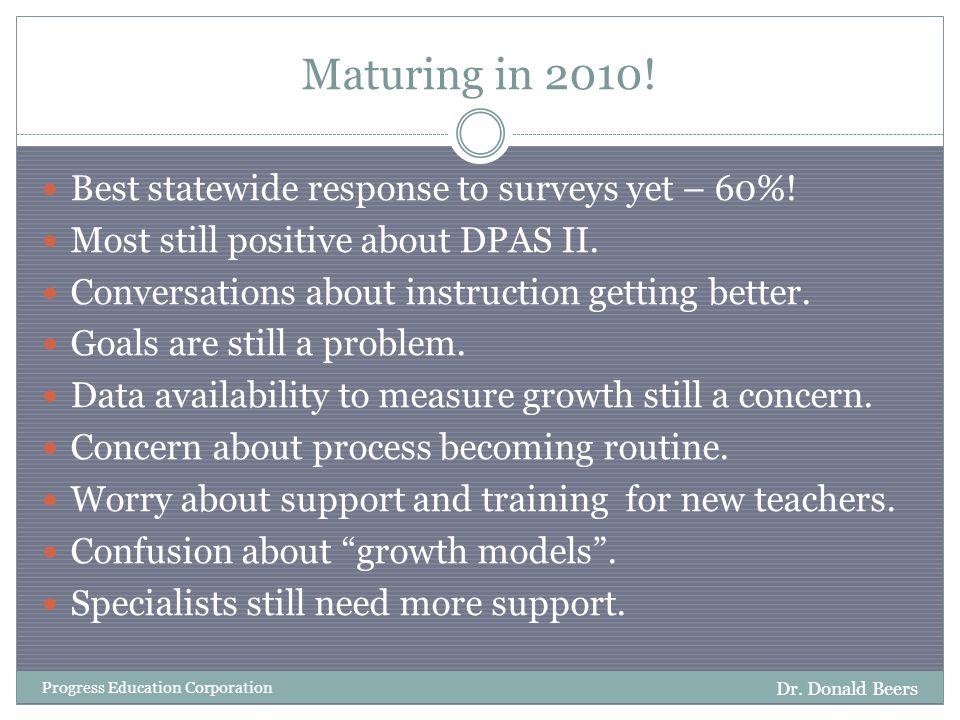 Maturing in 2010. Dr.