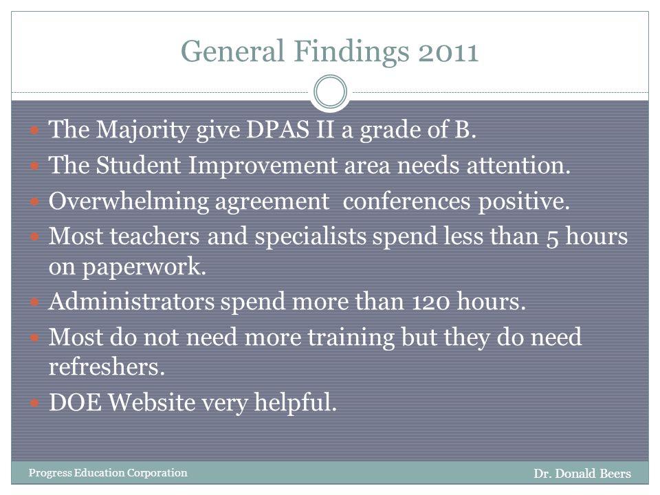 General Findings 2012 Dr.