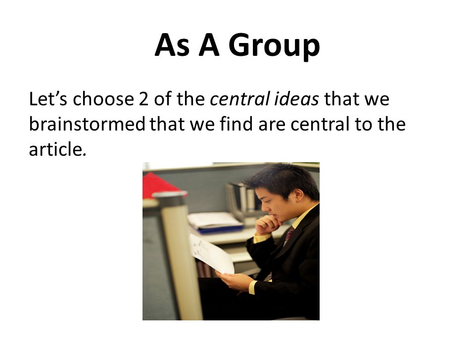 The Nitty Gritty ~ Lets Take a Look Central Idea #1- How does the author convey that idea to us.