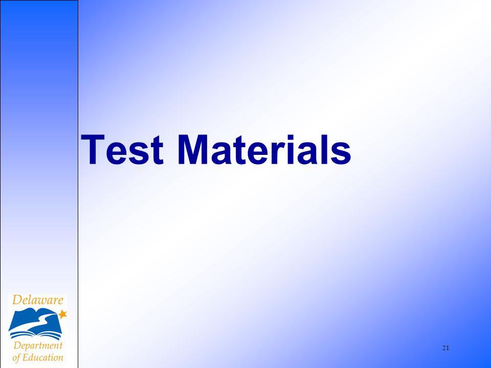 21 Test Materials