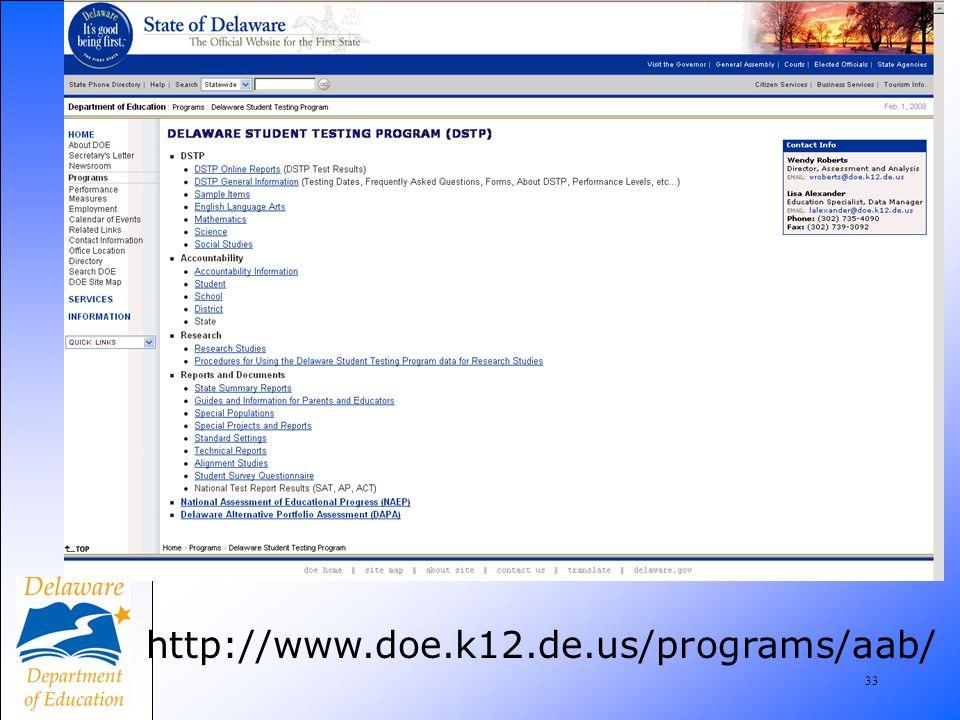 33 http://www.doe.k12.de.us/programs/aab/