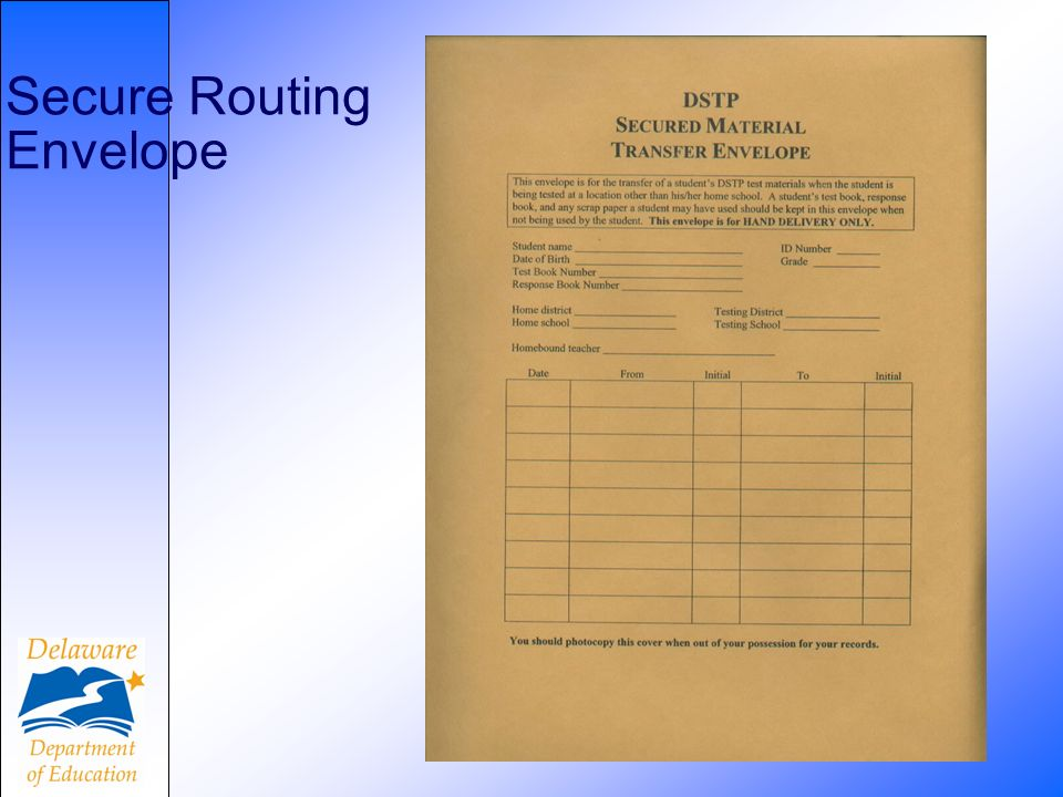 44 Secure Routing Envelope