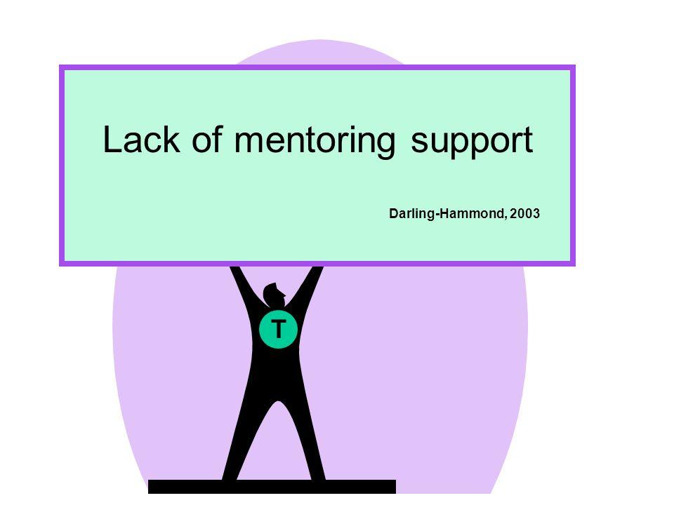 T Lack of mentoring support Darling-Hammond, 2003
