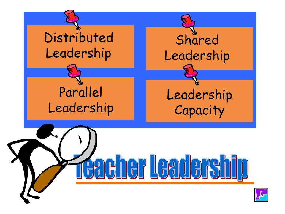 Shared Leadership Distributed Leadership Parallel Leadership Leadership Capacity