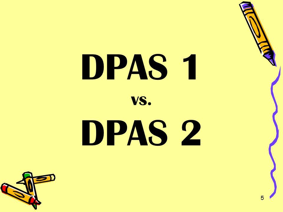 5 DPAS 1 vs. DPAS 2